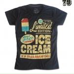 เสื้อยืดหญิง Lovebite Size S - Ice cream