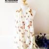 ผ้าพันคอ ชีฟอง สกรีนลาย Chiffon CF01-010-1