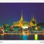 โปสการ์ด เรือพระที่นั่งสุพรรณหงส์ พระบรมมหาราชวัง แม่น้ำเจ้าพระยา กรุงเทพฯ /เรือพระที่นั่ง/แม่น้ำเจ้าพระยา/วิวกลางคืน