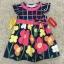 เสื้อผ้าเด็ก 1-2ปี size 12m-18m-24m ลายดอกไม้ พื้นหลังสีกรมท่า thumbnail 1