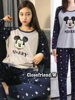 เซท เสื้อ+กางเกง ขายาว งาน Mickey