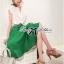 ( พร้อมส่งเสื้อผ้าเกาหลี) เซ็ตเสื้อชีฟอง-กระโปรงบานสีเขียวสุดขิค ตัวนี้ดูหรูหรามากๆ เสื้อชีฟองเรียบหรู classic มาพร้อม กระโปรงสีเขียว forest green ทรงบานดูสดใส สวยใส่สบาย ช่วงเอวคาดแถบสีขาว thumbnail 6