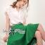 ( พร้อมส่งเสื้อผ้าเกาหลี) เซ็ตเสื้อชีฟอง-กระโปรงบานสีเขียวสุดขิค ตัวนี้ดูหรูหรามากๆ เสื้อชีฟองเรียบหรู classic มาพร้อม กระโปรงสีเขียว forest green ทรงบานดูสดใส สวยใส่สบาย ช่วงเอวคาดแถบสีขาว thumbnail 8
