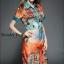 เสื้อผ้าเกาหลี พร้อมส่งชุดเดรสลายใหม่ พิมพ์ลาย สวยงามโทนสีสดใส thumbnail 2
