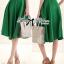 ( พร้อมส่งเสื้อผ้าเกาหลี) เซ็ตเสื้อชีฟอง-กระโปรงบานสีเขียวสุดขิค ตัวนี้ดูหรูหรามากๆ เสื้อชีฟองเรียบหรู classic มาพร้อม กระโปรงสีเขียว forest green ทรงบานดูสดใส สวยใส่สบาย ช่วงเอวคาดแถบสีขาว thumbnail 7