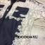 ชุดเดรสเกาหลี พร้อมส่งชุดเดรสคอปกแขนสั้นผสมผสานงานยีนส์และผ้าลูกไม้ thumbnail 6