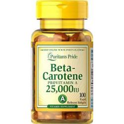 Puritan's Pride Vitamin A (Beta-Carotene) 25000 IU / 100 Softgels