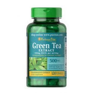 Puritan's Pride Green Tea Standardized Extract 500 mg (350mg of EGCG) / 120 Capsules