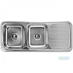 อ่างล้างจาน HAFELE รุ่น ND-821T-LHB Cat. No.567.20.012