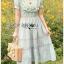 เดรสลายสก็อตปักลายดอกไม้สไตล์สาวคันทรี่ thumbnail 10