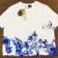 พร้อมส่ง Sets เสื้อยืดคอกลมสีขาวพิมพ์ลายดอกไม้ thumbnail 6