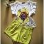 พร้อมส่ง เสื้อแขนล้ำผ้าซาติน พิมพ์ลายดอกไม้ thumbnail 8